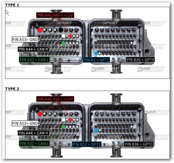 Точки подключения BOSCH ME17.3.0 TC1724
